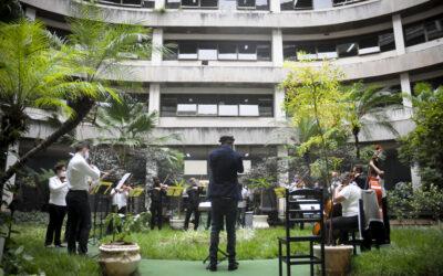 Profissionais da saúde são homenageados com concerto da Orquestra Filarmônica de Brasília